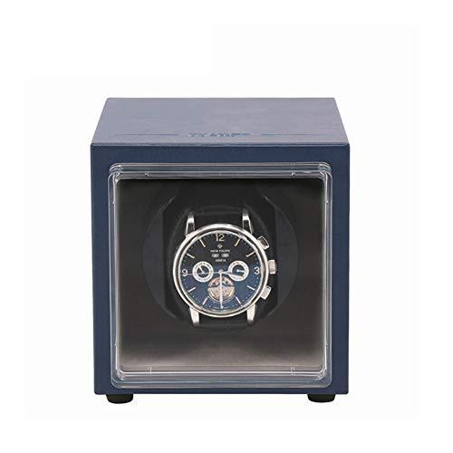 ZNND Reloj automático de la caja de la devanadera del reloj para 1 relojes con motor silencioso y 5 modos de rotación relojes caja de almacenamiento de la rotación