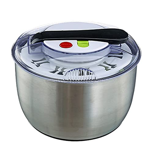 Nevup Deshidratador de Verduras, centrifugadora de Lechuga, máquina de aderezo para ensaladas, deshidratador Manual de Frutas y Verduras, Canasta de Limpieza de Secadora, Canasta deshidratadora de