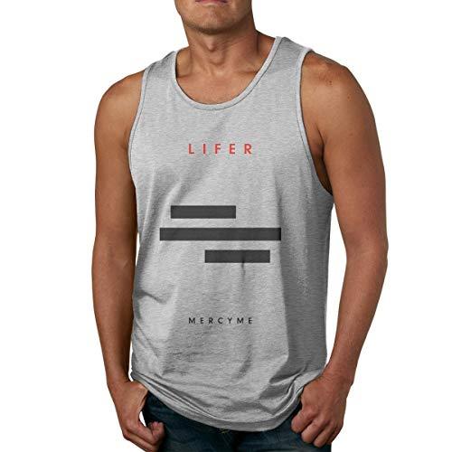 DJNGN Camiseta de algodón para Hombre Gym Fitness Singlet Chaleco MercyMe Lifer Camiseta sin Mangas sin Mangas