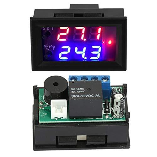 Regulador térmico de microordenador DC 12V Pantalla digital Microordenador ajustable, termostatos domésticos con sensor DC12V Interruptor de control del termostato