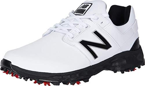 New Balance Men's LinksPro Golf Shoe, White/Black, 8