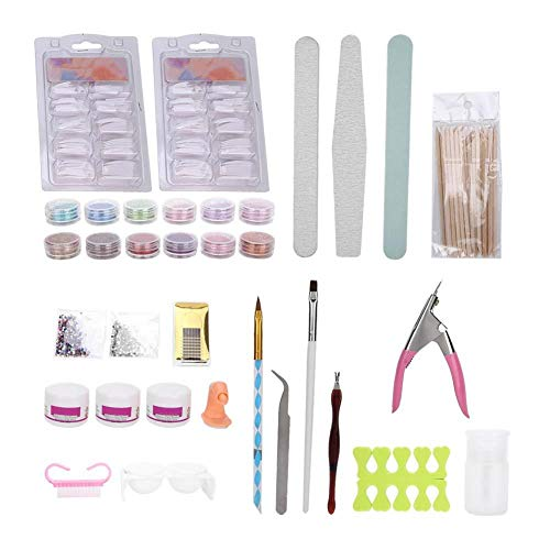 Kit de manucure de décoration d'art de bricolage professionnel pour l'artisanat d'ongle, Multi Types Kit de fournitures d'art d'ongle pour les soins des ongles et le travail des ongles