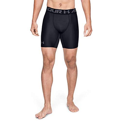Under Armour HeatGear Armour 2.0 Comp Shorts, Pantaloni Corti Uomo, Nero (Black Graphite 001), XL