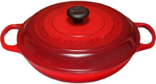 Le Creuset LS2532-3067 Signature Enameled Cast-Iron 3 1/2 Quart Round Braiser, Cerise (Cherry Red)
