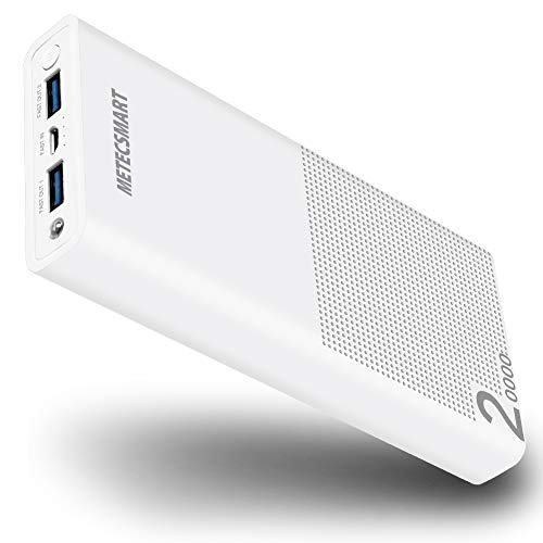 Quick Fast Charge 3.0 Power Bank - Fast Charging Powerbank Portable Charger 20000mah Backup Mobile External Battery Pack Compatible with Cell Phones iPhones XR X max XS 6 7 8 Metecsmart