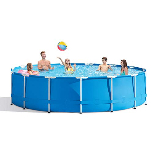 305×76 cm Metal Frame Pool Round Frame Above Ground Pool Pond Family Swimming Pool Metal Frame Structure Pool