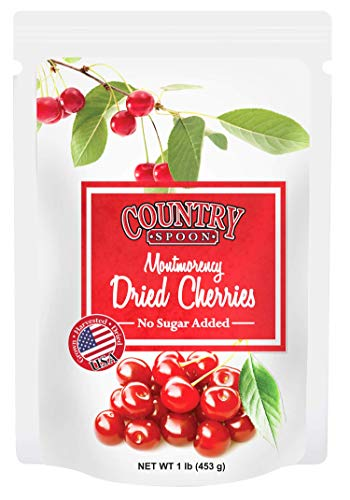 Country Spoon No Sugar Added Dried Tart Montmorency Cherries, 1 pound
