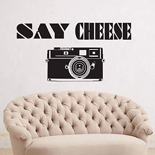 supmsds Sagen, Käse 3D Kamera Wandaufkleber Dekoration Wohnzimmer Kreative Aufkleber Vinyl Kunst Wandbilder 96X115CM