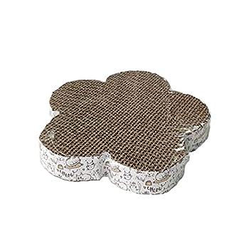 Ukallaite Griffoir pour Chat Griffoir pour Chat Papier Ondulé Compact écologique Griffoir pour Chat à Densité Plus élevée pour Protecteur De Meubles De Famille Fleur