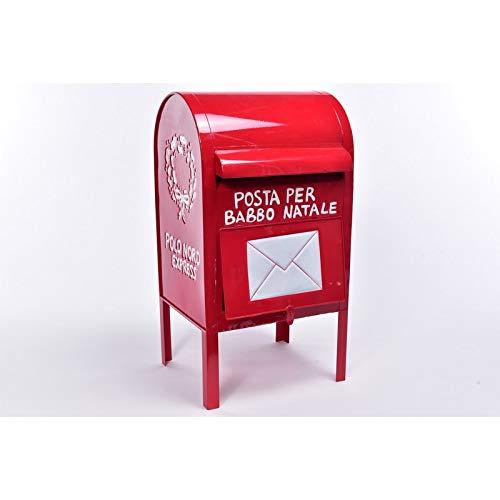 MERCURY Cassetta Postale di Babbo Natale Grande 28X26.5XH.52 CM.
