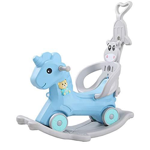FZJDX Baby Ride on Toys 2 In 1 Kinder Schaukelpferd Kinderwagen Kinder Schaukelstuhl Reiten Pferd Kinderzimmer Kleinkind Spielzimmer Kinderreiten Spielzeug