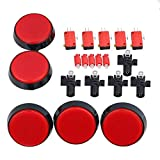 BQLZR LED Light Lamp 60mm Dia Big Round Arcade Video Game Player Power Switch Button