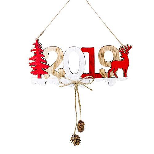 WFZ17 Hollow Weihnachten 2019 Aufhänger über der Tür für Weihnachten Haustür hängende Seildekorationen 1#