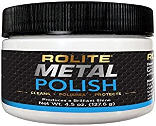 Rolite Metal Polish Paste – 4.5oz, Industrial Strength Polishing Cream for Aluminum, Chrome, Stainless Steel & Other Metals, 1 Pack