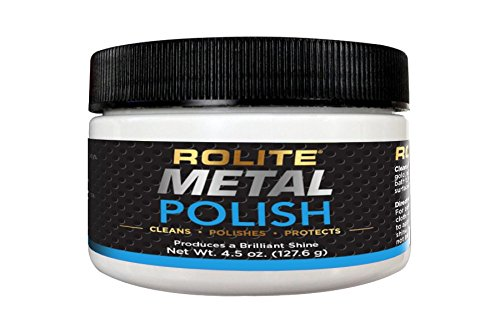 Rolite - RMP45z Metal Polish Paste - Industrial Strength Scratch Remover and Cleaner, Polishing Cream for Aluminum, Chrome, Stainless Steel and Other Metals, Non-Toxic Formula, 4.5 Ounces, 1 Pack