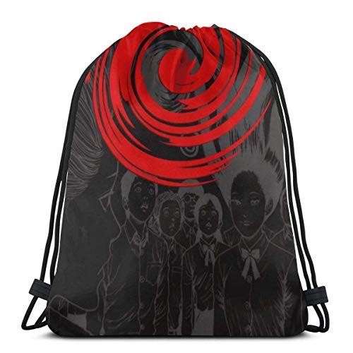 WH-CLA Drawstring Backpack Bags,Junji Ito Terror Tomie Uzumaki Sack Drawstring Unisex Gym Bag Colorful String Backpack Lightweight Drawstring Bags For Girls And Boys