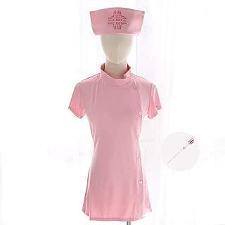 コスプレ制服誘惑制服ヒップストラップ可愛いキャラクターセクシーナーススーツ (Color : Pink)
