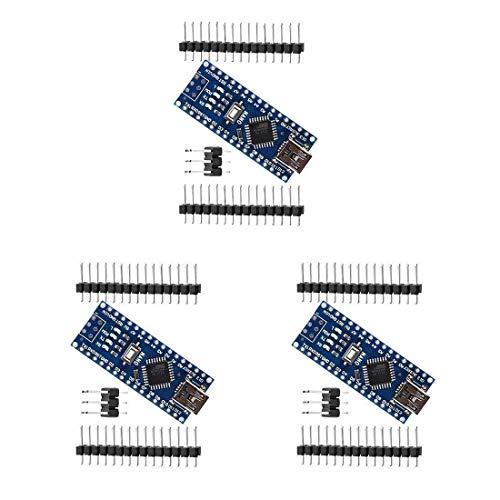 HiLetgo 3pcs Nano V3.0 ATmega328P CH340G 5V 16M Mini USB Micro Controller Board Development Board for Arduino with PIN Headers Pin Unsoldered