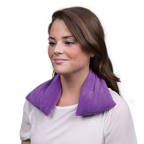 Bed Buddy Aromatherapy Heating Pad for Neck and Shoulders - Microwavable Heat Wrap, Purple, Lavender Scented