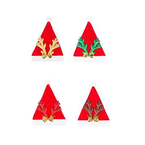 takestop® kerstmuts Corna rendier glitter hoed jurk CENONE decoratie Kerstmis Sun_96571 Festa Party kostuum kleur casual
