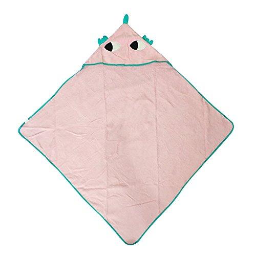 Sdtdia - Albornoz de algodón para niños con capucha y capucha rosa rosa