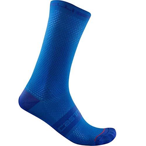CASTELLI SUPERLEGGERA T 18 Sock Calcetines, Celeste Italia, L para Hombre