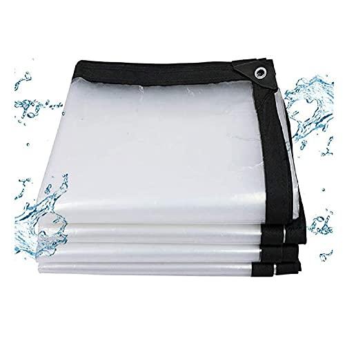 N\A ZHANGQINGXIU Balcón Storm Artifact Tarp, Ligero, Transparente, Resistente al desgarro, con Resistente Polietileno, 24 tamaños (Color : Clear, Size : 4x8m)