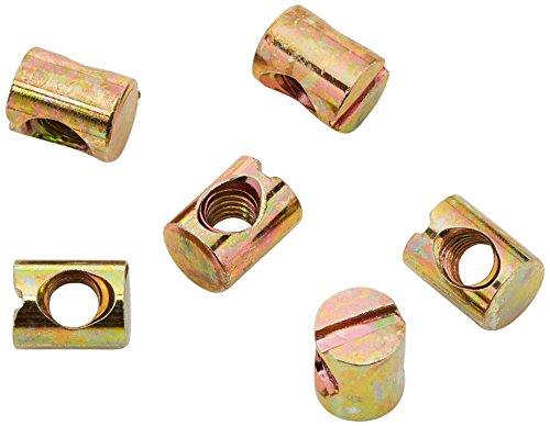 Bulk Hardware BH02119 Möbel-Zylindermutter M6 (Packung à 20), Weiß, Stück