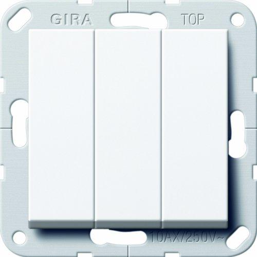 Gira 283203 Wippschalter Wechsel 3 Fach System 55, reinweiß