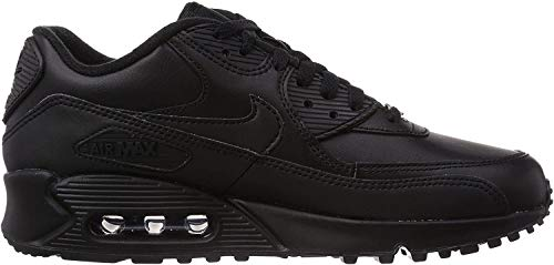 Nike Herren Air Max 90 Leather Gymnastikschuhe - Schwarz (black/black) , 43 EU