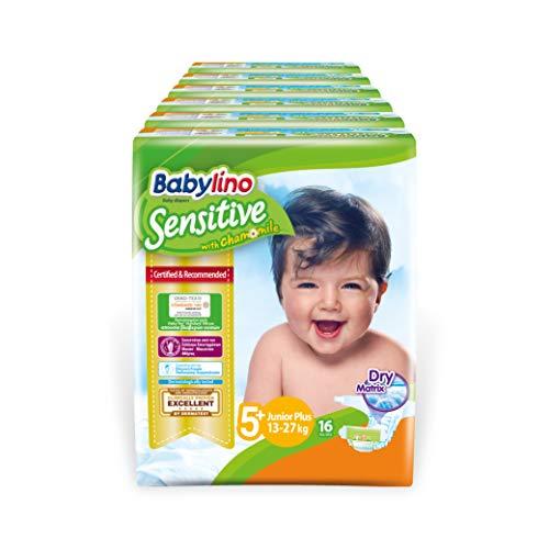 Babylino Sensitive Junior Plus, Pannolini (13-27Kg), Taglia 5+, 96 Unità