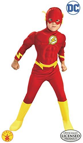 Rubies 3 882308 l - Deluxe DlxMuscle Chest, Costume da Flash, Taglia S