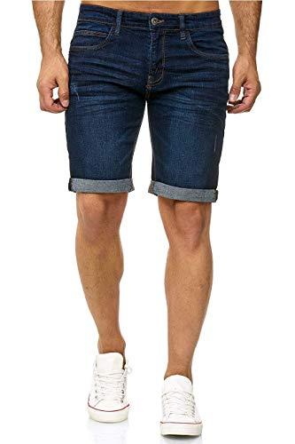 Indicode Kaden Denim Shorts, Color: Dark Blue, El tamaño: S