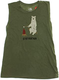 The North Face Graphic-Print Tank Top Green XL