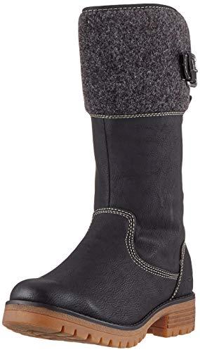 TOM TAILOR Damen 7991007 Hohe Stiefel, Mehrfarbig (Black-Coal 00067), 37 EU