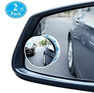 Maximize Your View - Newest upgraded 360° rotate, large mirror surface(50mm dia) and convex wide ankle(150R) mirror, maximize viewing angle and effectively eliminate the blind spot for ultimate safety. This blind spot mirror is ideal for car, truck, ...