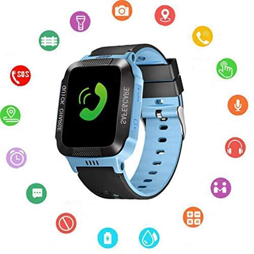 Reloj inteligente para niños con GPS, reloj digital de pulsera, teléfono SOS, alarma, cámara, reloj para niños, edad de 3 a 10 años, niños y niñas con iOS y Android