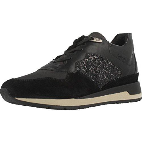 Geox Damen D Shahira B Sneaker, Schwarz (Black), 35 EU