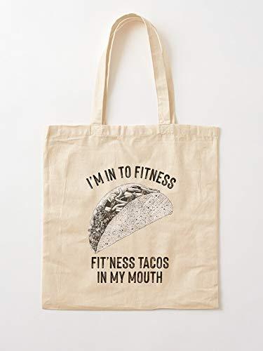 Junkie Body Care Meat Food Mexican Fitness Foodie Tote Cotton Very Bag | Bolsas de supermercado de lona Bolsas de mano con asas Bolsas de algodón duraderas