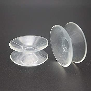 24 Count  Double Sided Suction Cups for Glass Table Top,Glass Table Top Bumpers,to Keep The Glass Table Top from Sliding,Clear PVC Plastic Sucker for Glass Table Mirror