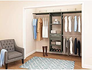 Allen and Roth WSLVCKG 8ft x 6.6ft Java Wood Closet Kit Antique Gray
