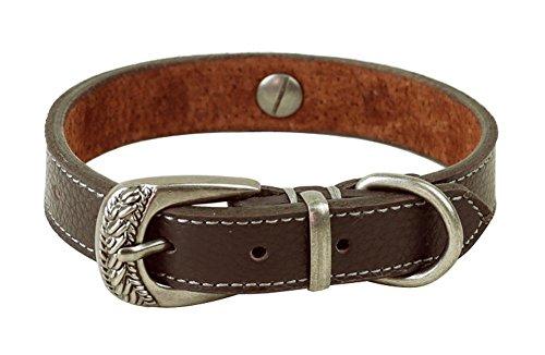 Rantow Rom-Art-Leder-Hundehalsbänder für kleine / mittlere Hunde Katzen Halsband , Hals 11,4