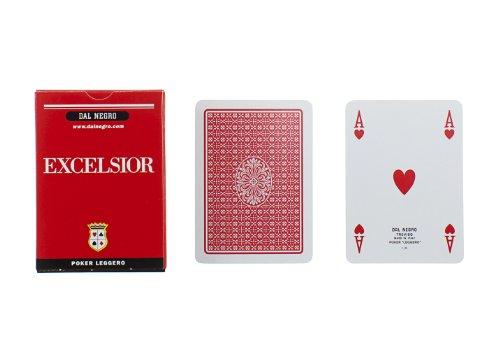 Dal Negro 21007 - Poker Excelsior Singolo Astuccio Rosso, Carte da Gioco
