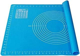 Ealicere 1.5 mm d'épaisseur Grand 65x45 cm Tapis de Cuisson Silicone,Bleu Tapis de pâte à Rouler,Anti-adhésif Réutilisable...