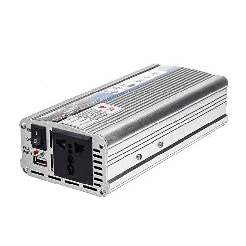 N\A Coche inversor de energía USB de Onda sinusoidal modificada inversor convertidor de energía del Coche del Adaptador del Cargador de energía Solar del inversor 500W verdadera DC 12V a 220V AC