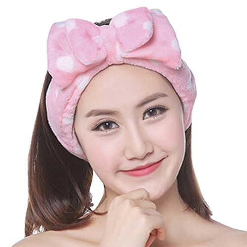 Élégant cosmétique Bandeau Bandeaux élasthanne souple Head Wrap Point Pink