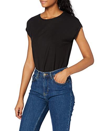 Vero Moda NOS Damen Vmava Plain Ss Top Ga Noos Bluse, Schwarz (Black), 42 (Herstellergröße: XL)