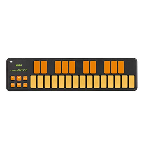 Korg nanoKEY2 MIDI-Tastatur, 25 Tasten, USB, Orange/ Grün