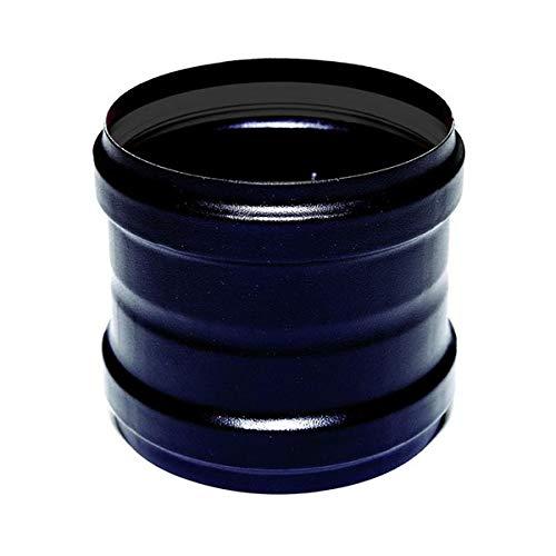 Tronchetto Buchse / Buchse DN 100 emaillierten 600-Grad-Holzpelletofen schwarz CE Rohr Made in Italy