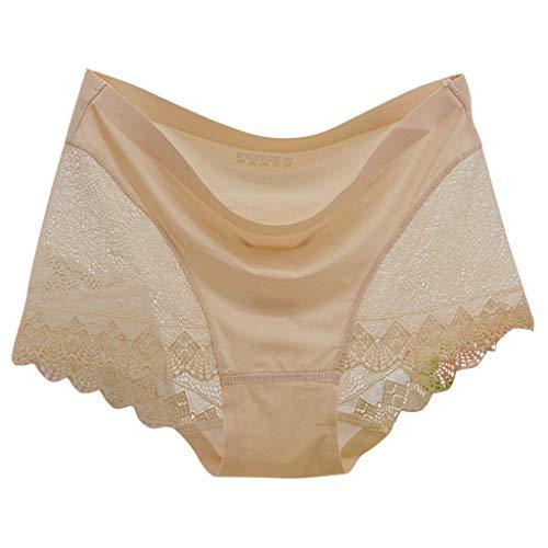 Yumso New Seamless Lace Ice Soie Seamless Invisible Stéréotypes Femmes sous-vêtements ma culotteculotte Noire
